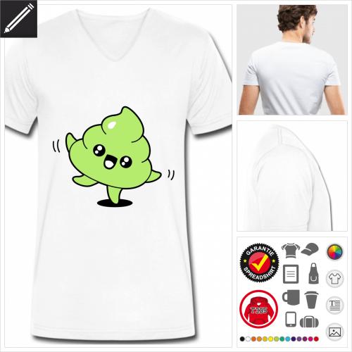 basic Kot kawaii T-Shirt selbst gestalten. Online Druckerei