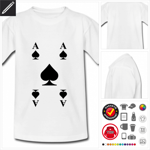 weisses Kartenspiel T-Shirt personalisieren