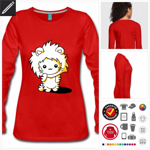 Lustige Katze T-Shirt personalisieren