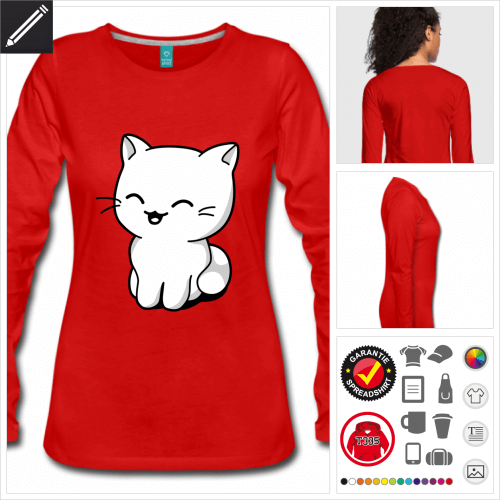 Kätzchen T-Shirt online gestalten