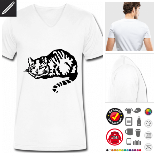 Männer Katzen T-Shirt selbst gestalten. Druck ab 1 Stuck