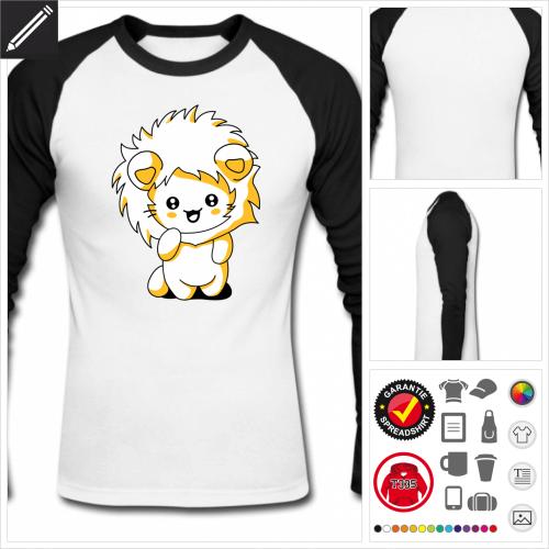 baseball Kätzchen kawaii T-Shirt personalisieren