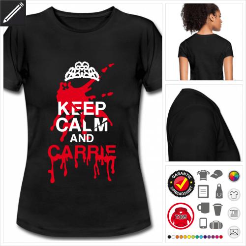 Keep calm Kurzarmshirt personalisieren