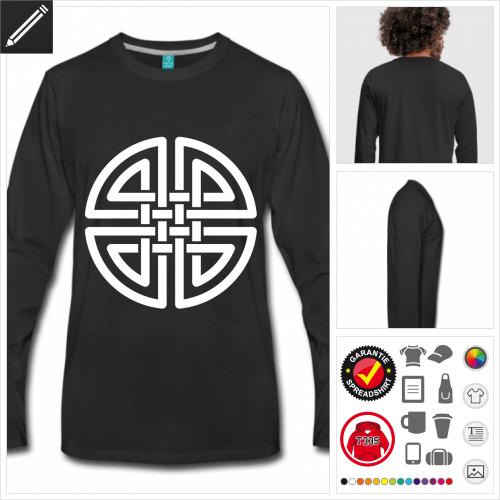 Keltisches Symbol T-Shirt selbst gestalten. Online Druckerei