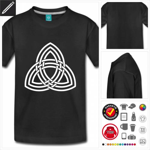 schwarzes Keltisches Symbol T-Shirt personalisieren