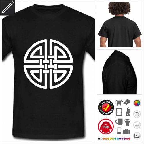 schwarzes Keltisches T-Shirt online zu gestalten