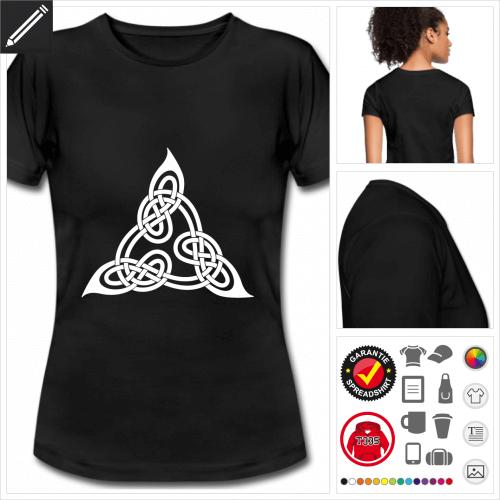 Keltisches Symbol Kurzarmshirt online gestalten