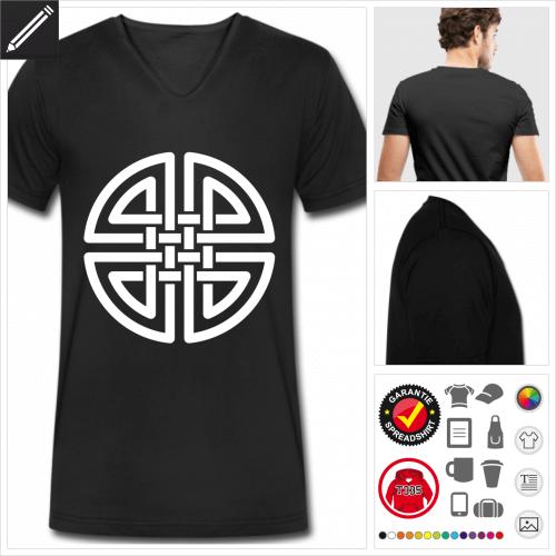 Keltisches T-Shirt für Männer online Druckerei, höhe Qualität