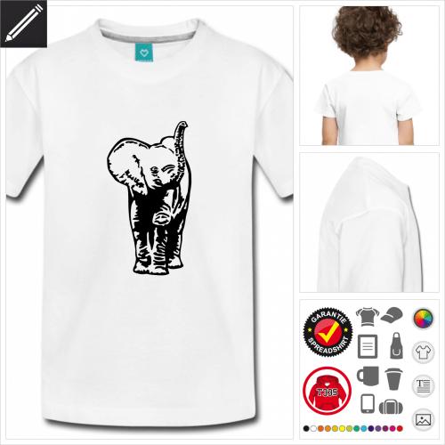 Kinder Baby-Elefant Kurzarmshirt online Druckerei, höhe Qualität