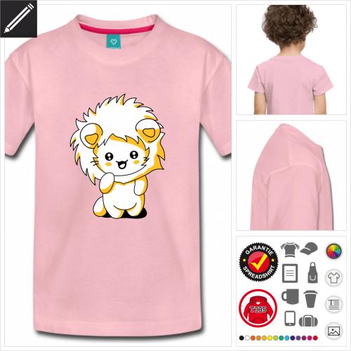 Kinder Kawaii Katze T-Shirt personalisieren
