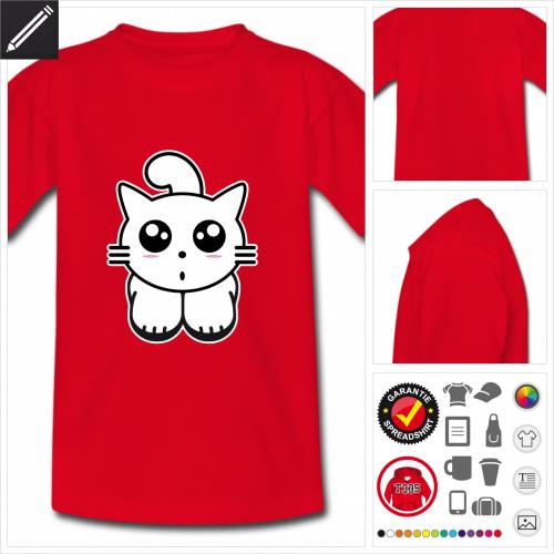 Kinder Kätzchen T-Shirt online Druckerei, höhe Qualität