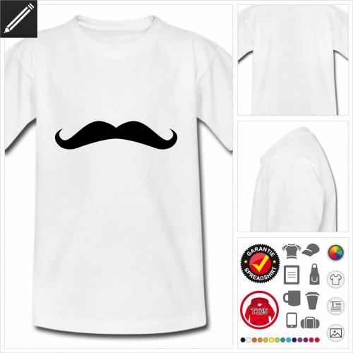 Kinder Moustache T-Shirt zu gestalten