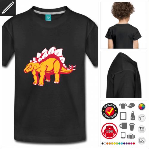 schwarzes Stegosaurus T-Shirt selbst gestalten