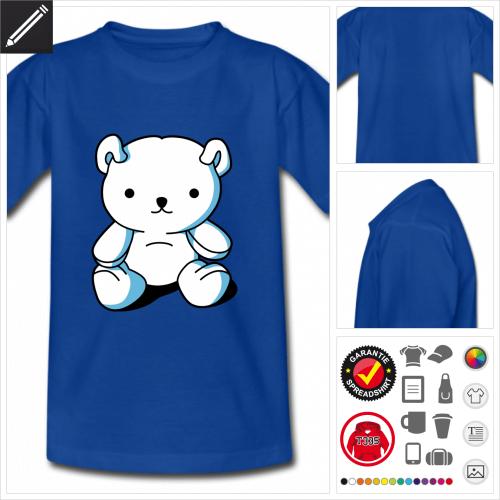 Kinder Teddybär T-Shirt selbst gestalten. Online Druckerei