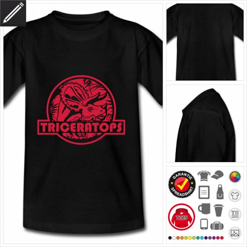Triceratops Logo T-Shirt selbst gestalten