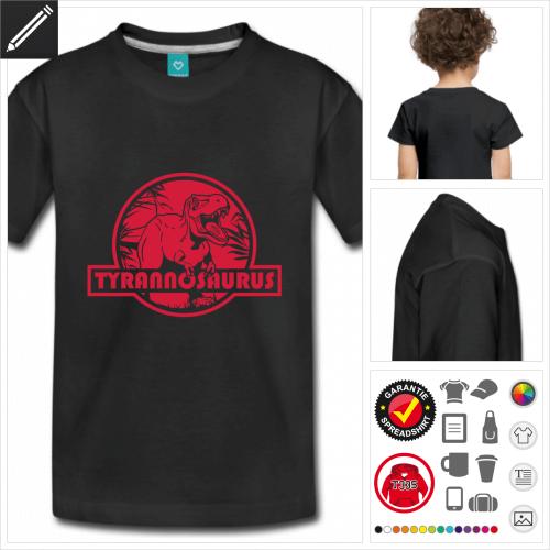 Kinder Tyrannosaurus T-Shirt selbst gestalten. Online Druckerei