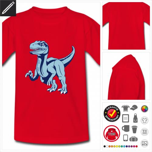 Kinder Velociraptor T-Shirt online zu gestalten