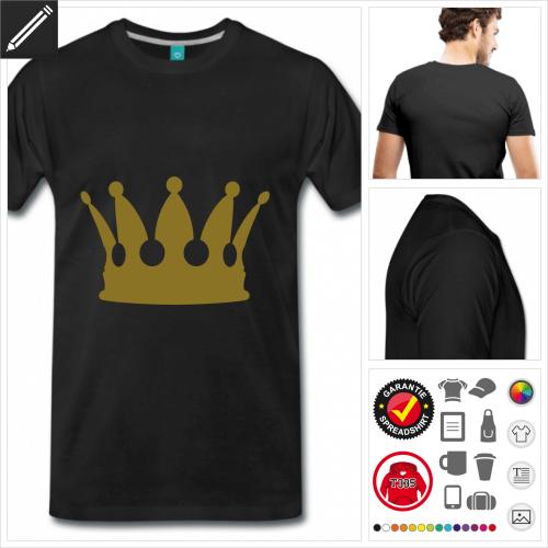 schwarzes König T-Shirt selbst gestalten