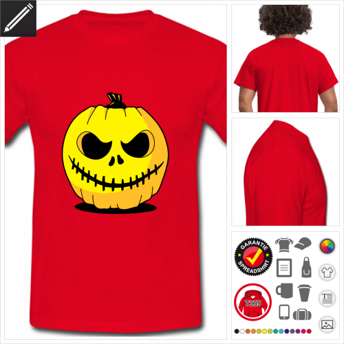 Kürbis T-Shirt online gestalten