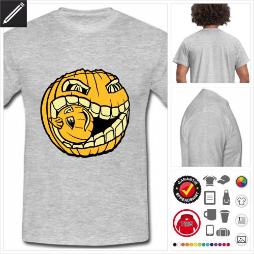 graues Kürbis T-Shirt personalisieren