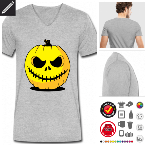Kürbis T-Shirt für Männer online zu gestalten