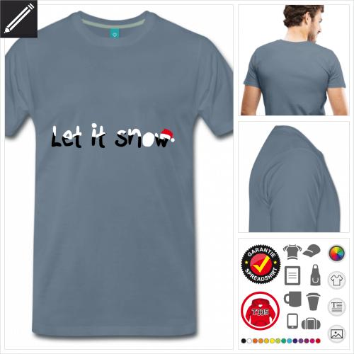 Schnee T-Shirt personalisieren