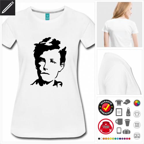 Frauen Schriftsteller T-Shirt online gestalten
