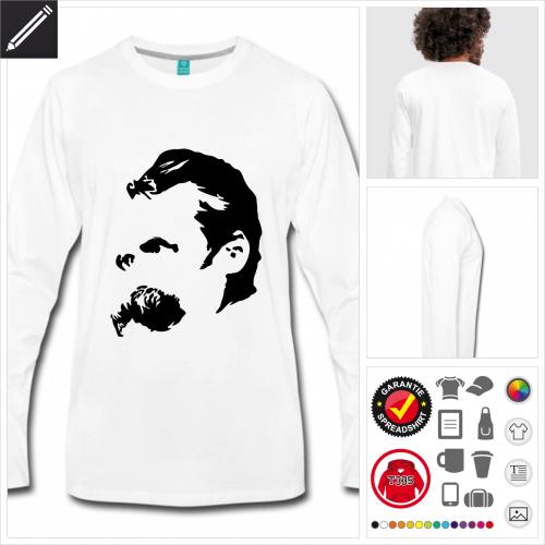 graues Philosophie T-Shirt online gestalten