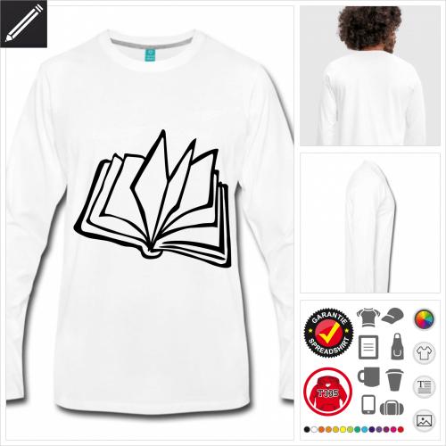 Männer Literatur T-Shirt selbst gestalten. Online Druckerei