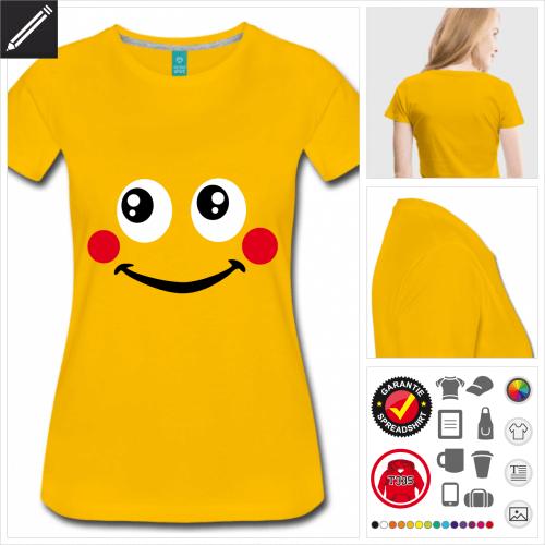 gelbes Smiley T-Shirt online gestalten