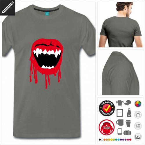 basic Wampir Mund T-Shirt online gestalten