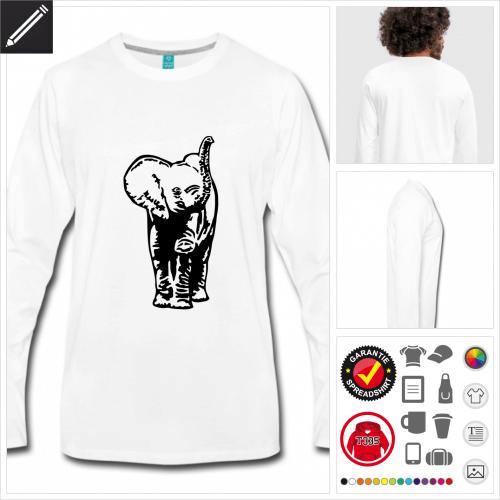Elefanten T-Shirt zu gestalten
