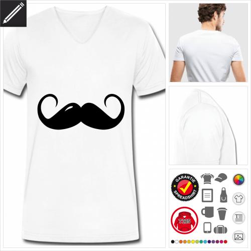Männer Schnurrbärte T-Shirt online Druckerei, höhe Qualität