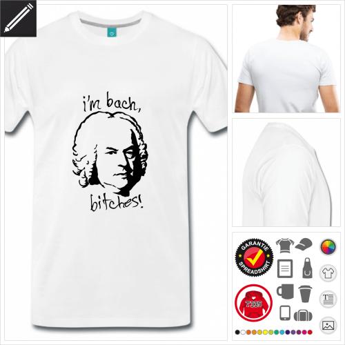 weisses Witzige Sprüche T-Shirt online zu gestalten