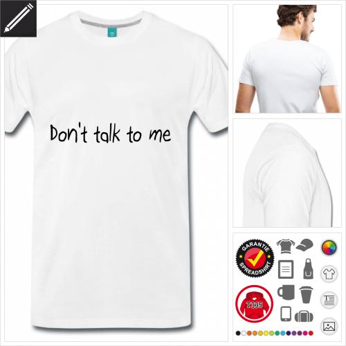weisses Morgen T-Shirt selbst gestalten. Online Druckerei