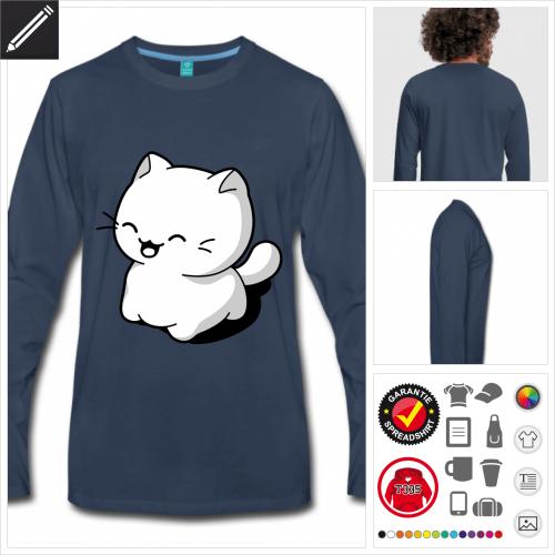 Katzen Langarmshirt zu gestalten