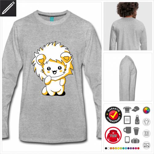 Katzen kawaii T-Shirt selbst gestalten. Online Druckerei