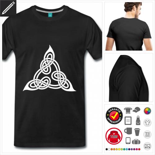 schwarzes Keltisches T-Shirt zu gestalten