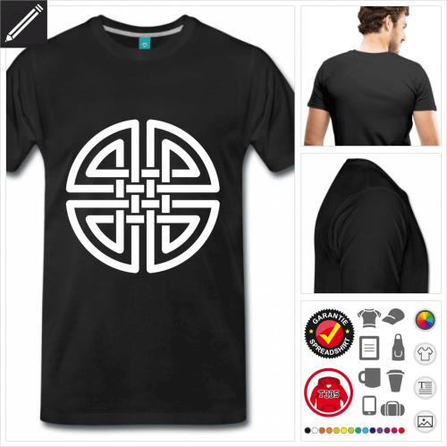 schwarzes Keltisch T-Shirt personalisieren