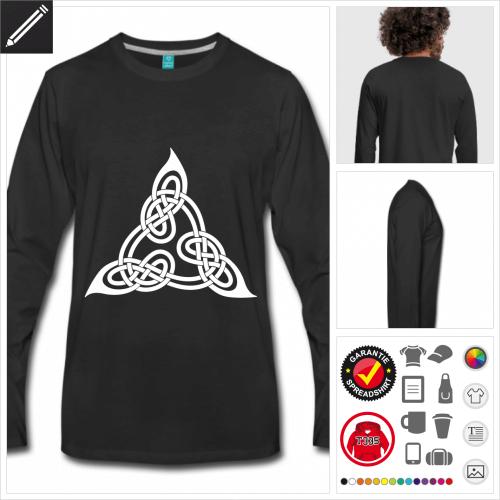Männer Keltisches T-Shirt online Druckerei, höhe Qualität