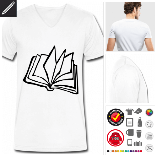 Lesen T-Shirt zu gestalten