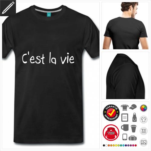 Männer Französische Sprüche T-Shirt online zu gestalten