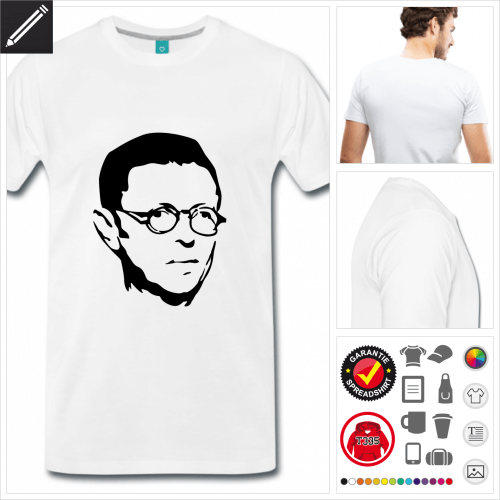 Sartre T-Shirt selbst gestalten. Druck ab 1 Stuck