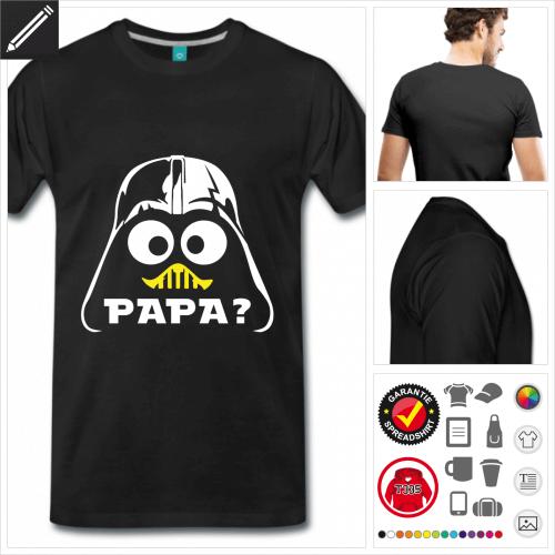 schwarzes Nerd Humor T-Shirt online zu gestalten