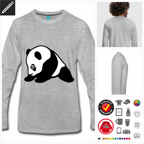 Lustiger Panda T-Shirt personalisieren