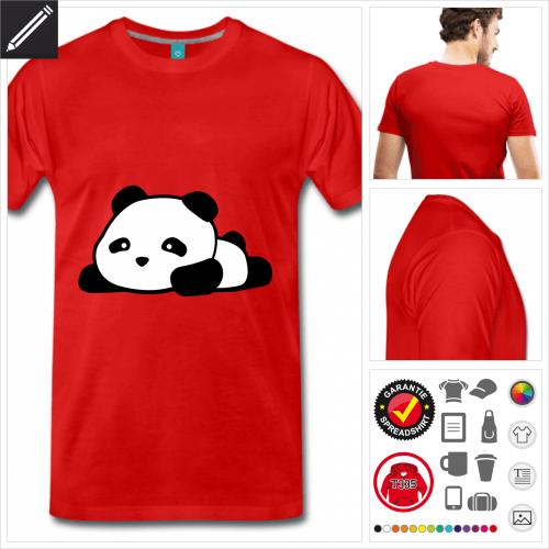 Männer Panda kawaii T-Shirt online gestalten