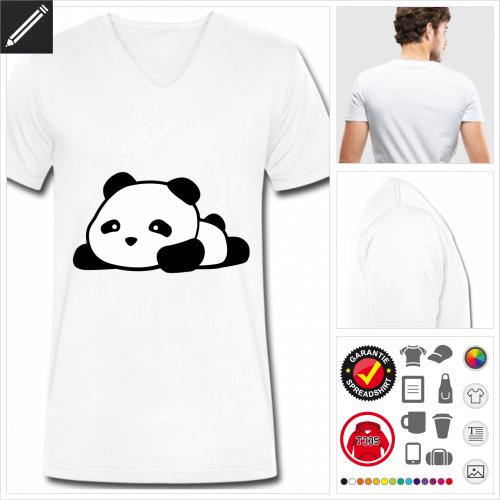 Männer Panda T-Shirt personalisieren