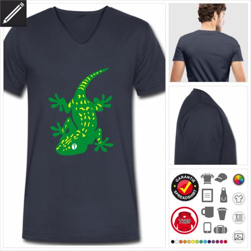 Männer Geckos T-Shirt selbst gestalten. Druck ab 1 Stuck