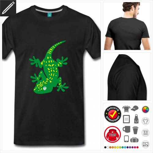 Reptilien T-Shirt selbst gestalten. Online Druckerei