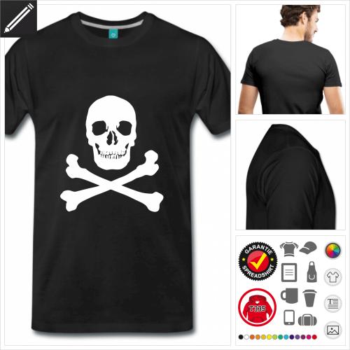 basic Piratenflagge T-Shirt online gestalten